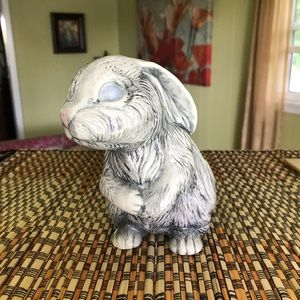 Other - Ceramic hand painted glazed bunny.